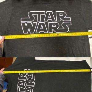 Star Wars Shirts - Black speckled Star Wars short sleeve T-shirt mens